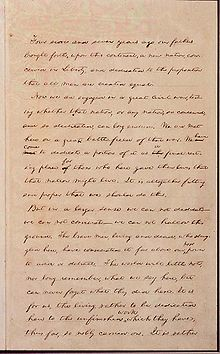 Civil War For Kids The Battle Of Gettysburg Draft Of The Gettysburg Address From The Library Of Congress