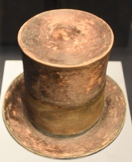 Lincoln's top hat from the Smithsonian