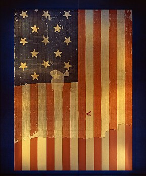 Original flag that was the Star Spangled Banner