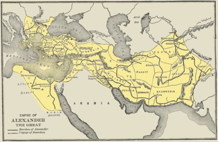kid s biography alexander the great map