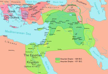 Ancient Mesopotamia Assyrian Empire - Map of egypt and mesopotamia
