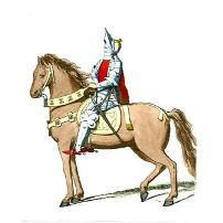 Medieval Knight On Horse In the middle ages.