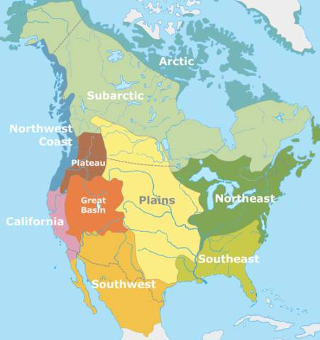 Indian Tribes In Us Map.Native American History For Kids Tribes And Regions