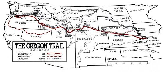 Shocking image for oregon trail map printable