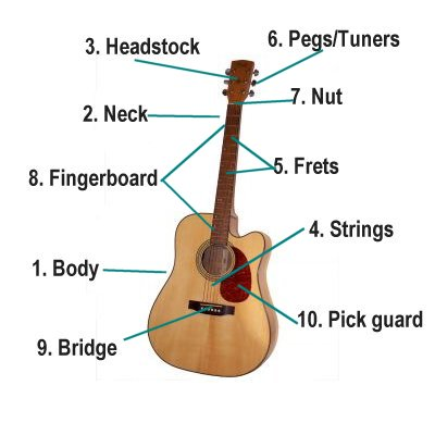 music for kids parts of the guitarparts of the guitar