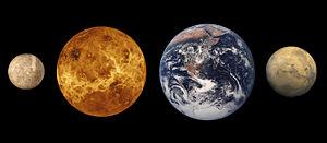 Mars and Earth comparison