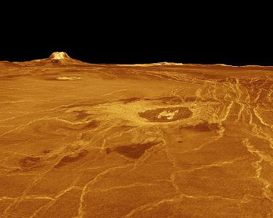 The surface of the planet Venus