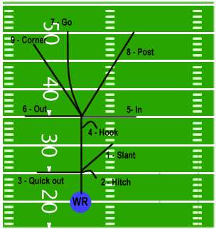 Pics For > Wide Receiver Routes